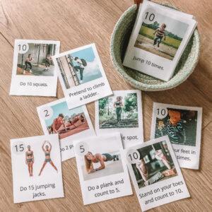 Karty obrazkowe – ćwiczenia gimnastyczne | ANG