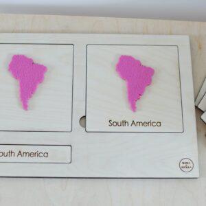 """Karty trójdzielne """"Kontynenty"""" – z filcem"""