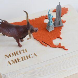 "Drewniane pudełko z serii ""7 Continents"" – NORTH AMERICA"