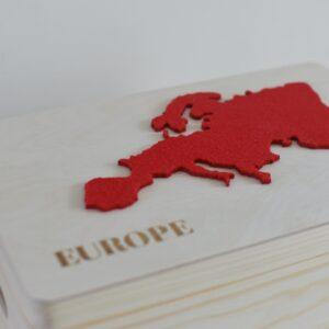 """Drewniane pudełko z serii """"7 Continents"""" – EUROPE"""