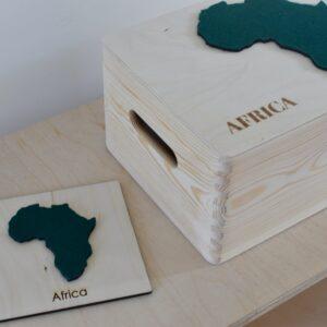 """Drewniane pudełko z serii """"7 Continents"""" – AFRICA"""