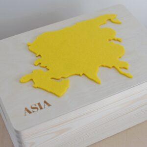 """Drewniane pudełko z serii """"7 Continents"""" – ASIA"""